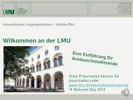 Präsentation Einführungsveranstaltung Deutsch 2012/13 - Ludwig ...