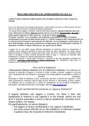 DISTURBI SPECIFICI DI APPRENDIMENTO (D.S.A.)