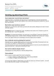 Varsling og placering af ferie (fra gl web) - DFL