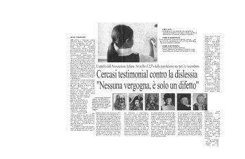 Cercasi testimonial contro la dislessia - Associazione Italiana ...