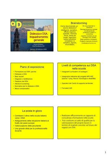 Dislessia e DSA. Inquadramento generale - Associazione Italiana ...
