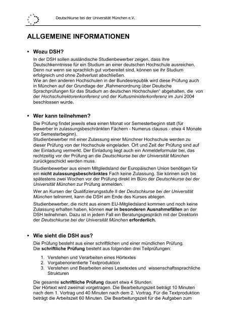 Deutsche Sprachprufung Fur Den Hochschulzugang Dsh 12