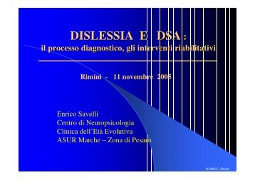 DISLESSIA E DSA :