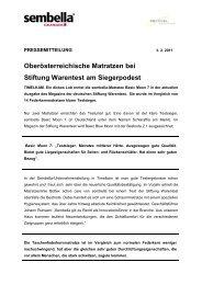 Oberösterreichische Matratzen Bei Stiftung Warentest Am ...