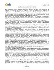 La dislessia evolutiva in Italia