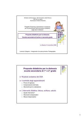 Proposte didattiche per la dislessia - Associazione Italiana Dislessia