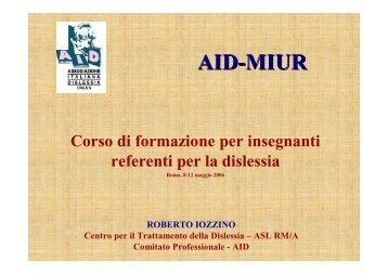 Dislessia, Disortografia - Associazione Italiana Dislessia