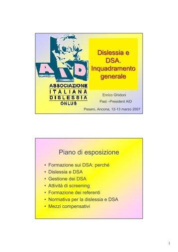 Dislessia e DSA - Associazione Italiana Dislessia