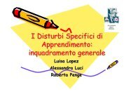 I Disturbi Specifici di Apprendimento - Associazione Italiana Dislessia