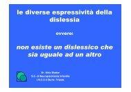 le diverse espressività della dislessia non esiste un dislessico che ...