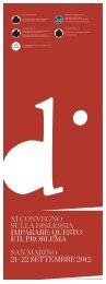 Brochure Convegno Dislessia 2012 - Università degli Studi di San ...