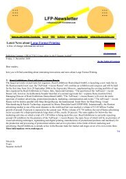 Latest News about Large Format Printing - LFP-Newsletter.de