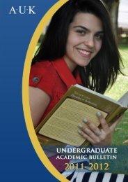 AUK 2011 - 2012 Academic Calendar - American University in Kosovo