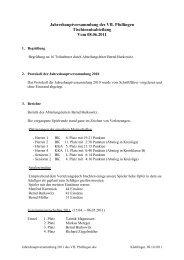 Jahreshauptversammlung des VfL Pfullingen Tischtennisabteilung ...