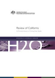Review of Coliforms - National Health and Medical Research Council