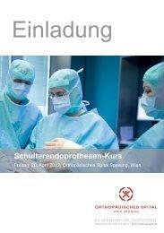 Schulterendoprothesen-Kurs - Orthopädisches Spital Speising