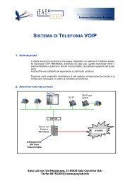 SISTEMA DI TELEFONIA VOIP - Easy-redirect.com