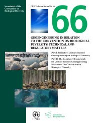 CBD Technical Series 66 - Convention on Biological Diversity