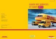 GUIDE DES SERVICES ET TARIFS 2012 - DHL | France