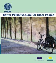 Better palliative care for older people - World Health Organization ...