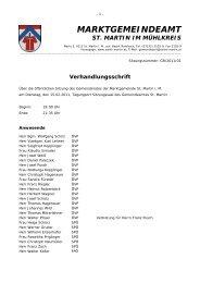 Verhandlungsschrift - Gemeinde St. Martin im Mühlkreis