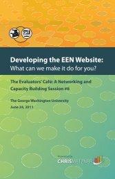 Developing the EEN Website: - Environmental Evaluators Network