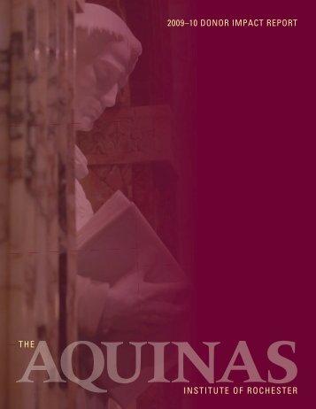 AQ Annual Report.indd - The Aquinas Institute
