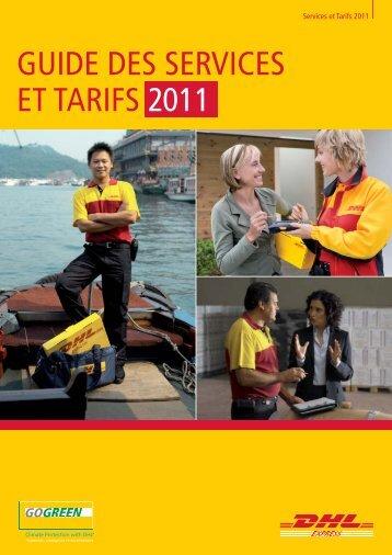 GUIDE DES SERVICES ET TARIFS 2011 - DHL | France