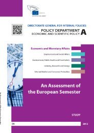 An Assessment of the European Semester - Europa