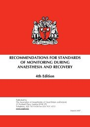 RECOMMENDATIONS FOR STANDARDS OF MONITORING ... - aagbi