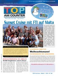Sunset Cruise mit FTI auf Malta - top am counter