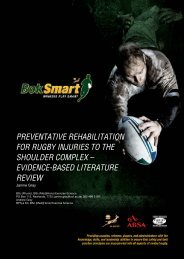 Preventative Rehabilitation for Rugby Injuries