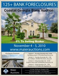 Coastal Georgia Bank Property Auction Brochure ... - Maier Auctions