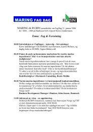 Tema: Fag & Forretning - FHL