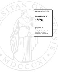 Introduksjon til Diglog - Universitetet i Oslo