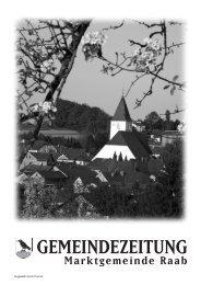 Gemeindezeitung 1/2010 (3,16 MB) - Marktgemeinde Raab - Land ...