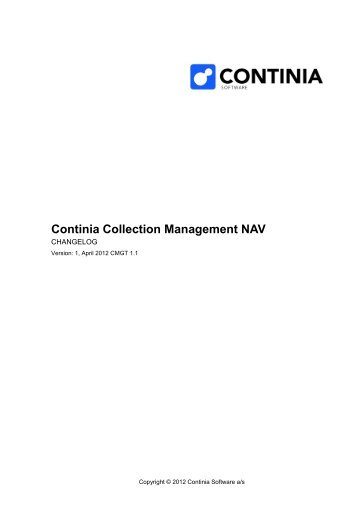 Continia Collection Management NAV