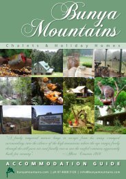 Download the Complete Accommodation Guide - Bunya Mountains