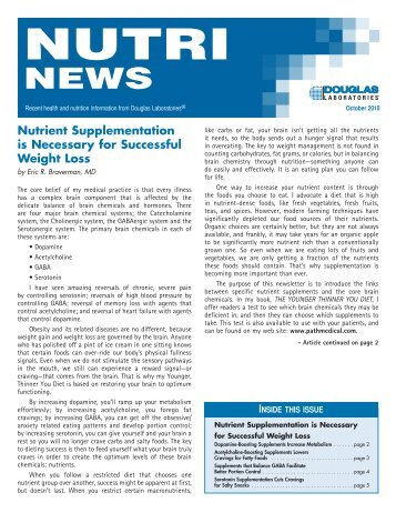 Nutrient Supplementation is Necessary for Successful Weight Loss