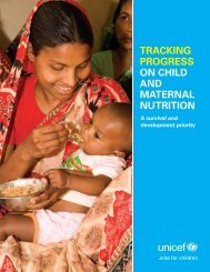 Tracking Progress on Child and Maternal Nutrition - Unicef