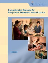 Competencies Required for Entry-Level Registered Nurse Practice