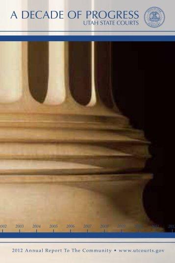 Decade of Progress - Utah State Courts