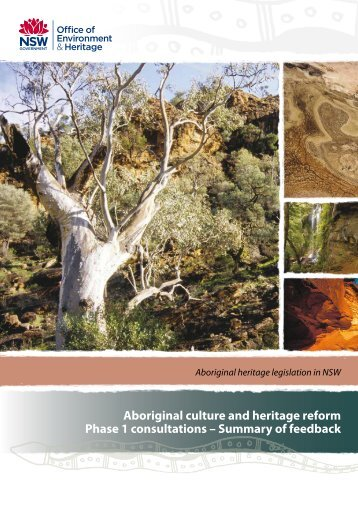 Aboriginal culture and heritage reform, Phase 1 consultations