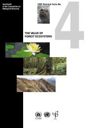 The value of forest ecosystems - Convention on Biological Diversity