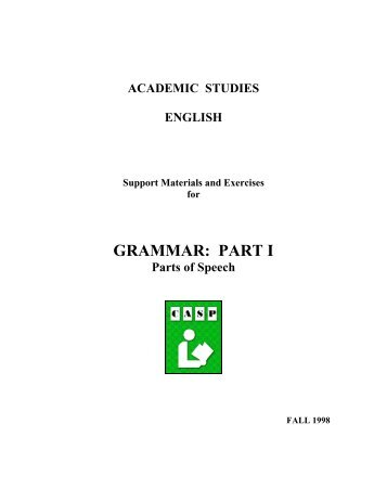 GRAMMAR: PART I - National Adult Literacy Database