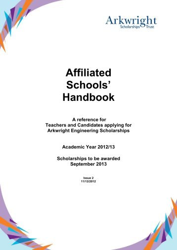 Handbook - Arkwright Scholarships