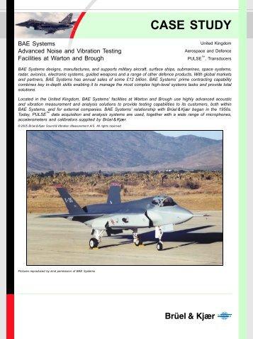 BAE Systems - Aerospace Testing - Case Study - Brüel & Kjær