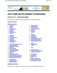 java web development standards - Integrated Land Management ...