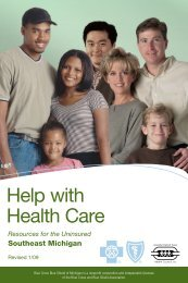 Help with Health Care - Blue Cross Blue Shield of Michigan