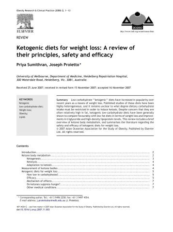 Ketogenic diets for weight loss: A review of their principles, safety ...